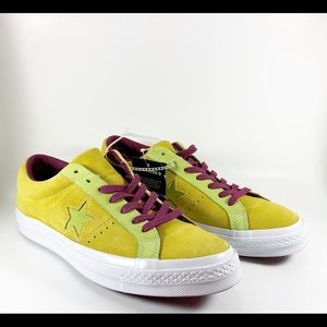 Men's Converse One Star Low Yellow Suede 161616C